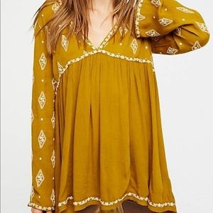 Free People Embroidered Tunic Size M